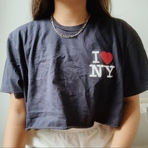 cropped american apparel i love ny tee ✰